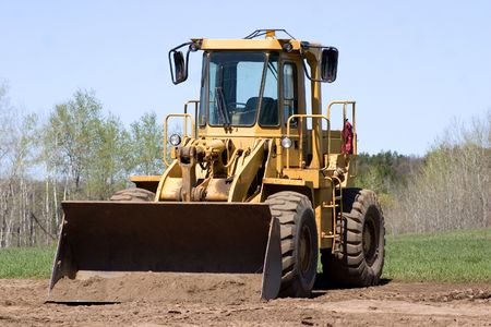 front loader: un cargador frontal dispuesta a trabajar