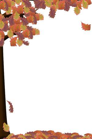 een illustratie van een boom in de herfst kleuren