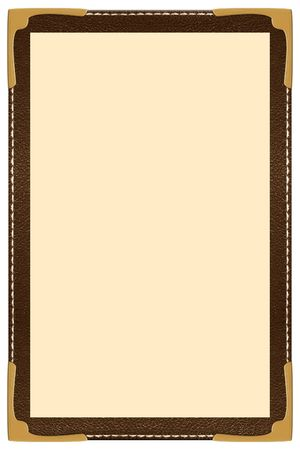 diner: a single page leather menu
