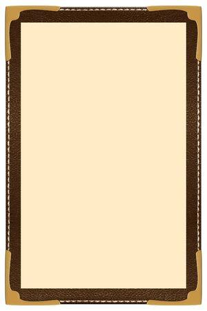een enkele pagina leder menu