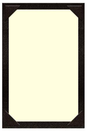 een pagina zwart lederen menu