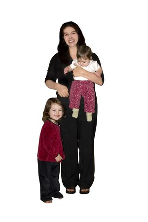 a mother with her two little girls Stock Photo - 845511
