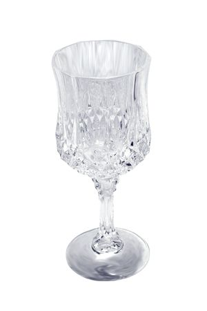 glasswear: an empty water glass isolated over white