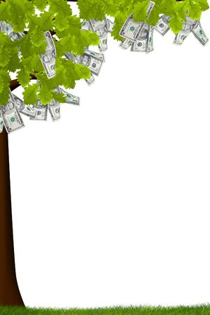 A tree with money growing on it