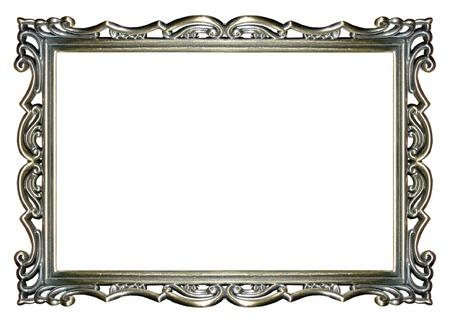 een lege versierde zilveren beeld Stockfoto