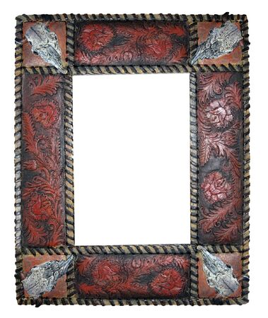 a detailed empty western looking picture frame photo