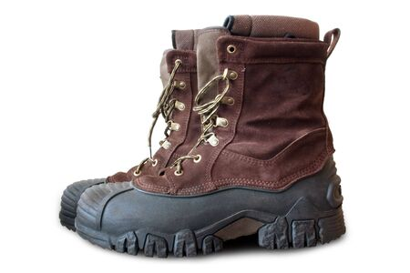 warmly: a pair of warmly insulated winter boots