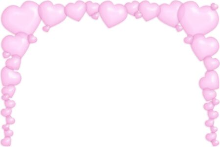 sensitivity: A frame made of pink bubbly hearts