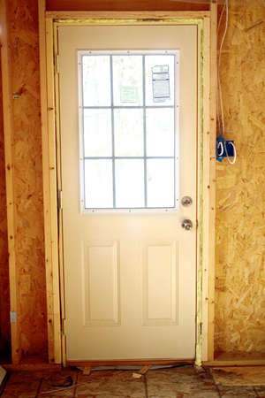 a new door on an incomplete home photo
