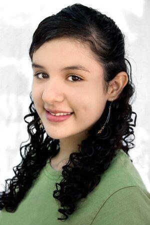 a portrait of a pretty hispanic teenage Stock Photo