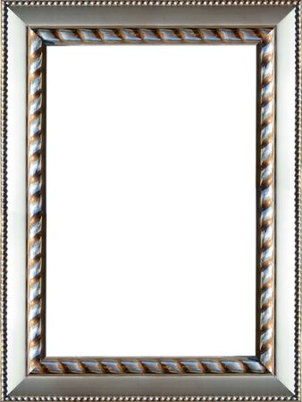 a beautiful ornate silver colored picture frame Stock Photo - 2913647