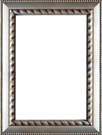 een mooi versierde zilverkleurige beeld Stockfoto