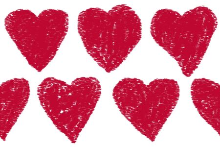 a continuous pattern of red hearts photo