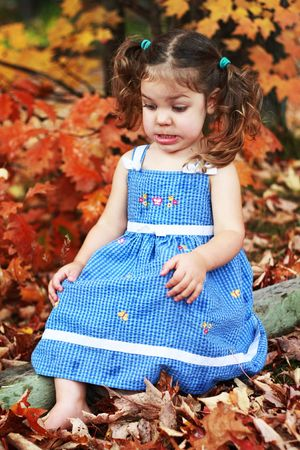 a little girl with a disgusted expression on her face Stock Photo - 6378016