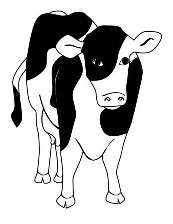 An illustration of a dairy cow Vettoriali
