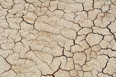 dried climate, fissured cracked earth and sand photo