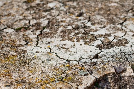 fissures: Soil with stones and numerous fissures texture Stock Photo