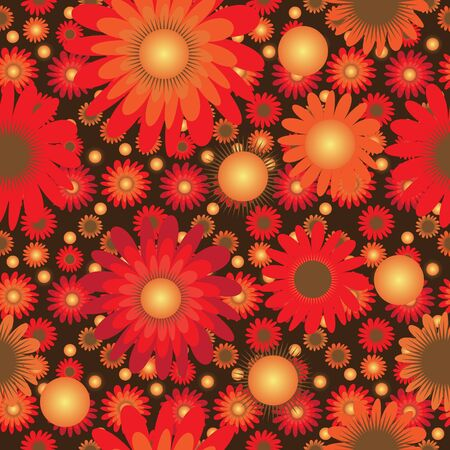 orange blossom: Vivid colorful repeating flower background