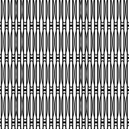 Retro black and white seamless background Vector