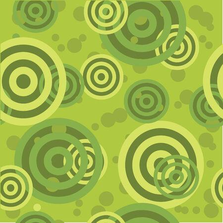 Retro green seamless circle background Stock Vector - 6137745