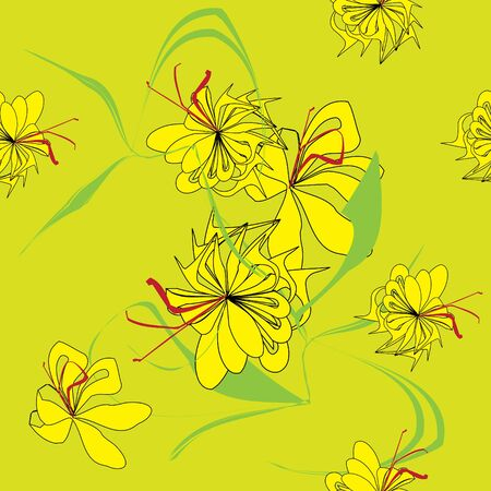 Seamless vivid flower vector pattern Vector