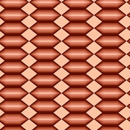 Seamless abstract brown tile pattern Vector
