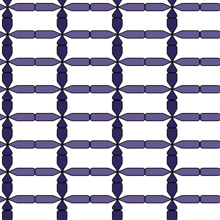 Seamless abstract blue tile pattern Vector