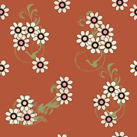 Nahtlose Braun Blume-Muster