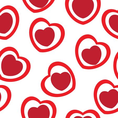 endearment: Seamlessly vector wallpaper valentine with hearts