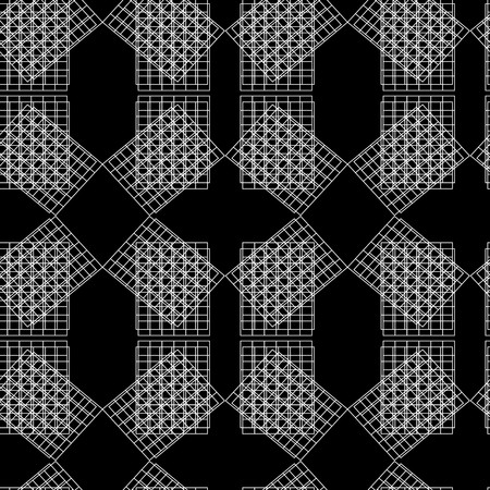 Retro black and white seamless background Stock Vector - 6421138