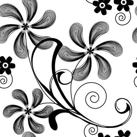 seamlessly: Perfettamente wallpaper con arte bianco fiore  Vettoriali