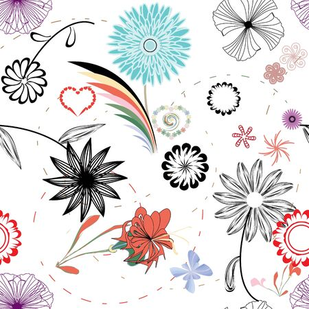 Retro floral seamless pattern Stock Vector - 6979465