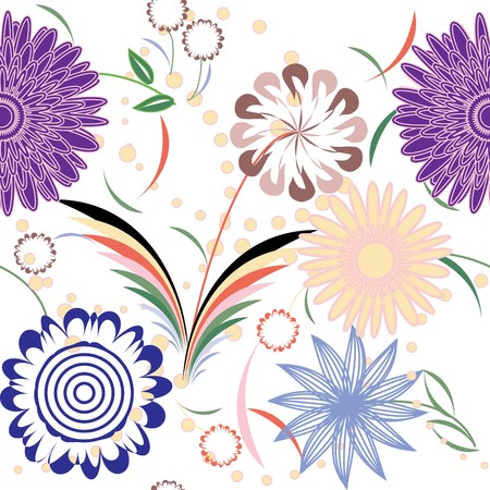 Retro floral seamless pattern Stock Vector - 6979488