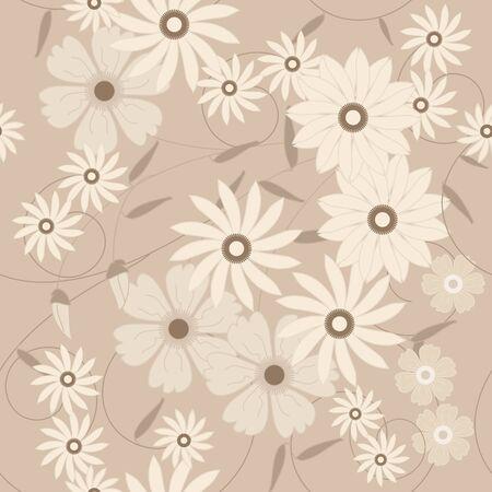 dearness: Retro floral seamless pattern