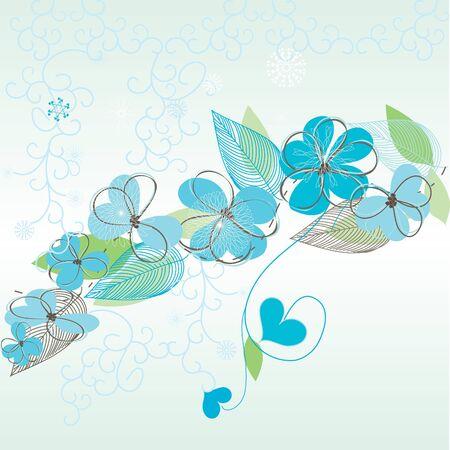 Romantic floral backgrounds Vector