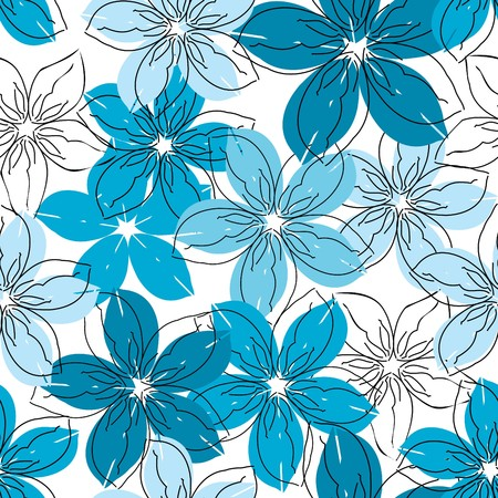 wallpaper pattern: Floral seamless pattern