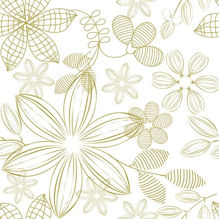 fondle: Floral seamless pattern