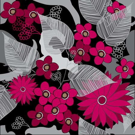 dearness: Floral seamless pattern