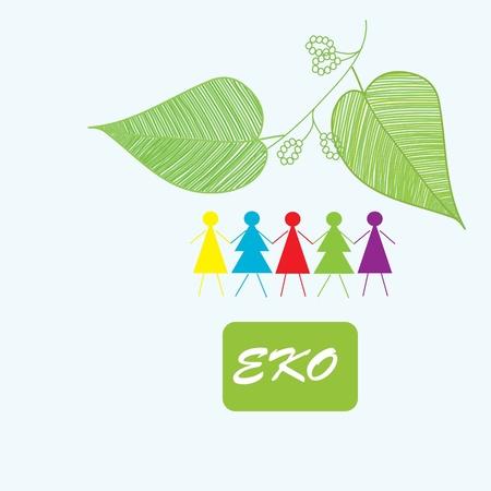 Stylish eko abstract backgrounds