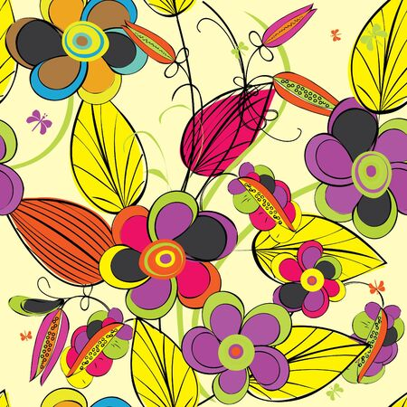 Floral seamless pattern Stock Vector - 9492166