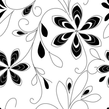 caress: Floral seamless pattern