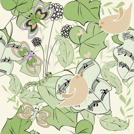 botanical branch: Nature summer seamles pattern