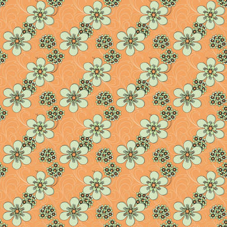 madras: Floral seamles pattern Illustration
