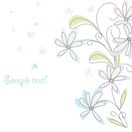fondle: Floral background