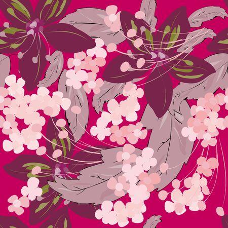 Summer flower seamles pattern Stock Vector - 9835349