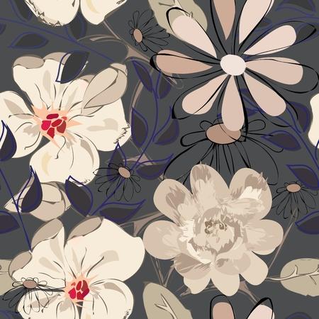 textile image: Flower seamless background Illustration