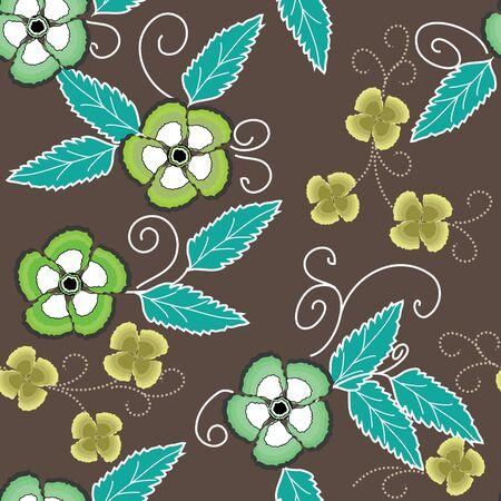 Flower seamless background Vector