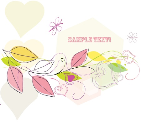 Abstract leaf background with butterfly Stock Vector - 10260217