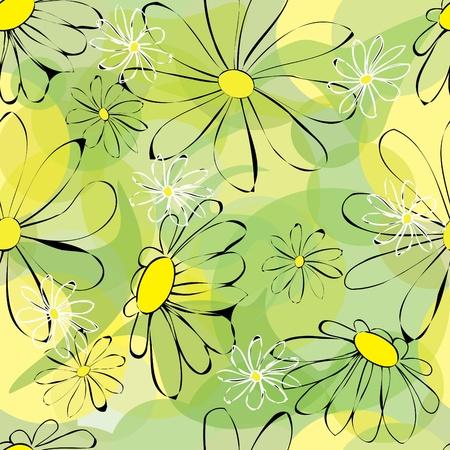 Flower seamless background Illustration