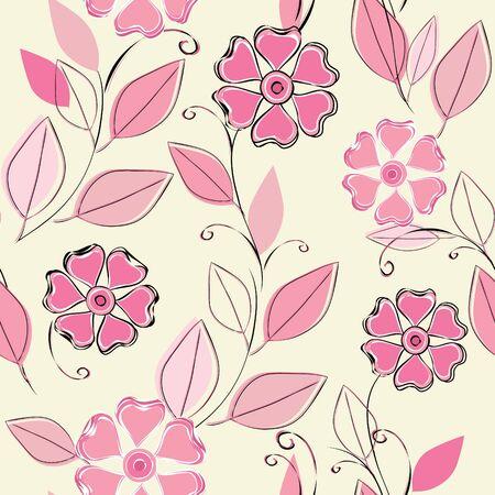 Flower seamless pattern Иллюстрация